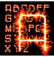fire alphabet vector image
