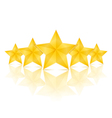 Five Stars vector image