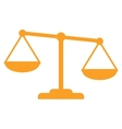 Gold scales of justice vector image
