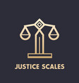 scales icon law firm logo element vector image