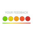 set faces scale feedback isolated vector image