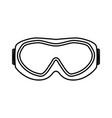 ski goggles black color icon vector image