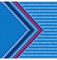 Style Arrow Color Knitted Pattern vector image