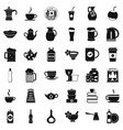 tableware icons set simple style vector image