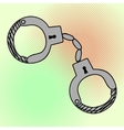 Handcuffs pop art vector image