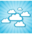 Clouds frames vector image