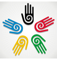 Olympics Games 2012 hands vector image