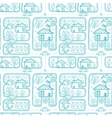 Doodle town streets seamless pattern background vector image