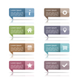 Speech Bubbles with Icons vector image vector image