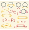 Set of vintage ribbons and labels vector image