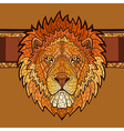 Lion head with ethnic ornament vector image