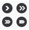 modern arrow icons set vector image
