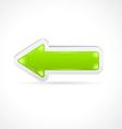 Color glass arrow icon vector image