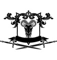 Fullface ram arms with sword vector image vector image