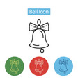 christmas bell decoration icon vector image