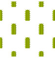 green cactus plant pattern seamless vector image