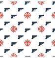 gun targets seamless pattern2 vector image
