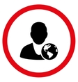 International Manager Flat Rounded Icon vector image