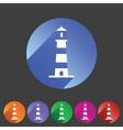 Lighthouse icon flat web sign symbol logo label vector image