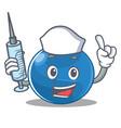 nurse blueberry character cartoon style vector image