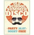 Sunglasses Retro Poster vector image