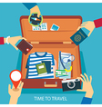 time to travel concept flat design vector image