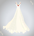 wedding dress and necklace vector image