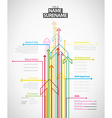 Creative cv template with colorful arrows - light vector image vector image