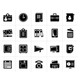 Black Business and office supplies icons vector image vector image