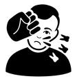 Head Strike Flat Icon vector image