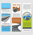 road safety service technology banners vector image vector image