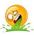 vomiting emoticon vector image vector image