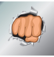 clenched fists vector image