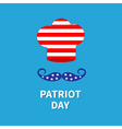 Chef hat mustache patriot day Flat vector image