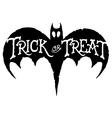 Bat Trick or Treat vector image vector image