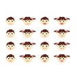 Children head icons vector image vector image