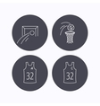 Football basketball and team captain icons vector image