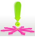 Exclamation vector image