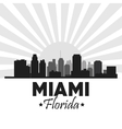 Miami florida design City and sunset icon vector image
