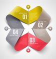 Abstract shape with infographics elements vector image