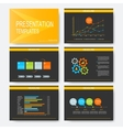 Black yellow set of templates for vector image