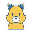 cute cat head cartoon vector image