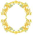 Decorative round frame ornamental floral vintage vector image