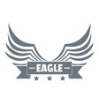 eagle wing logo simple gray style vector image