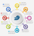 infographic template with social media icons vector image