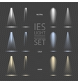 Light Effect Spotlight with Transparent vector image
