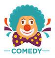 movie genre comedy cinema icon of clown vector image