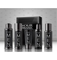 set of men cosmetics package vector image