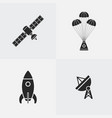 space icon silhouette vector image
