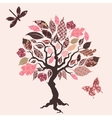 tree with patch leaves vector image